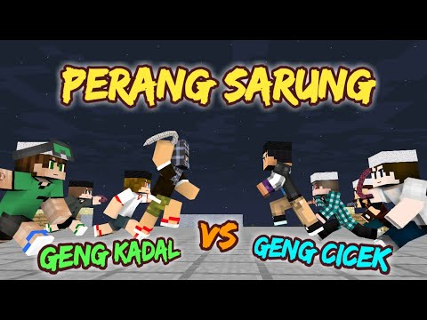 PERANG SARUNG !!! - Sketsa Minecraft Animation W/ Anited, Muthia Savira | Spesial Ramadhan