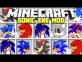 Minecraft : SONIC.EXE MOD - SUMMON IN SONIC.EXE, KNUCKLES, MORE! (Ps3/Xbox360/PS4/XboxOne/PE/MCPE)