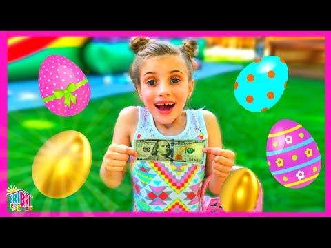 Golden Easter Egg Hunt Surprise for Kids! BriBri Fun House