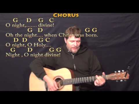 O Holy Night - Strum Guitar Cover Lesson in G with Chords/Lyrics