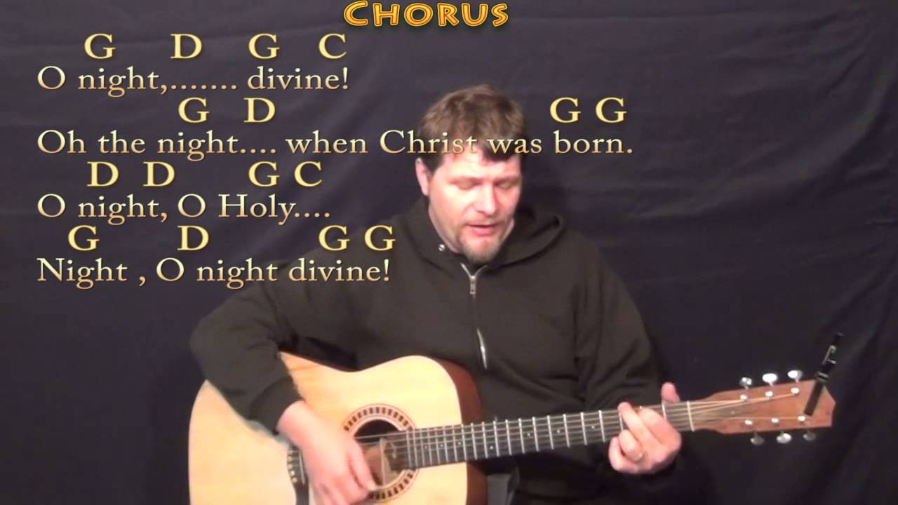 O Holy Night Strum Guitar Cover Lesson In G With Chordslyrics
