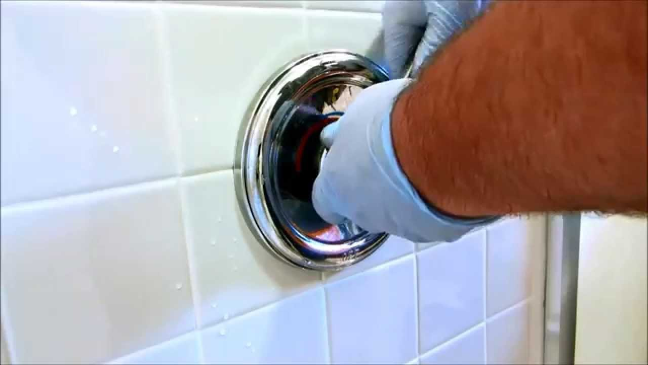 no hot water to moen tub shower valve - YouTube