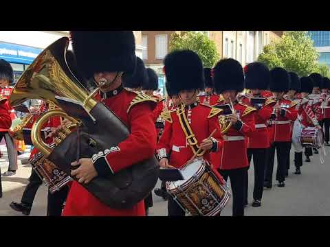 Coldstream Guards in Exeter 2018
