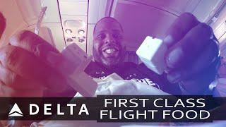 Delta 1st Class Flight Food