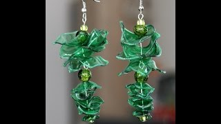 DIY - Recycled Plastic Bottle Earrings
