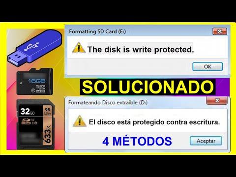 The Disk Is Write Protected Como Resolver│Como QUITAR Protección Contra Escritura Memoria SD, USB