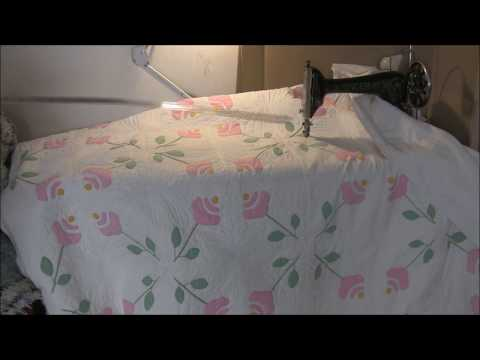 Treadle quilting a full sized quilt