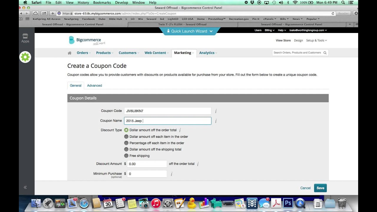 How To Create A One Time Gift Certificate In Bigcommerce Youtube