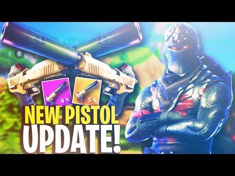"""NEW LEGENDARY """"SILENCED PISTOL"""" GAMEPLAY! - Fortnite Battle Royale Weapon Update"""