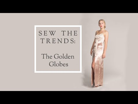 Sew The Trends  - The Golden Globes || Fashion Sewing || The Fold Line. http://bit.ly/2GPkyb3