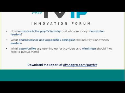Pay-TV Innovation Forum webinar 2016 - morning session