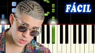 Amorfoda / Bad Bunny / FACIL Piano Tutorial