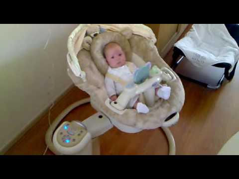 Schommelstoel Baby Graco.Jada Lynn Graco Sweetpeace Babyschommel Youtube