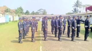 SATPAM GARDA KERTA RAHARJA Peragaan PBB Siswa Angkatan 343