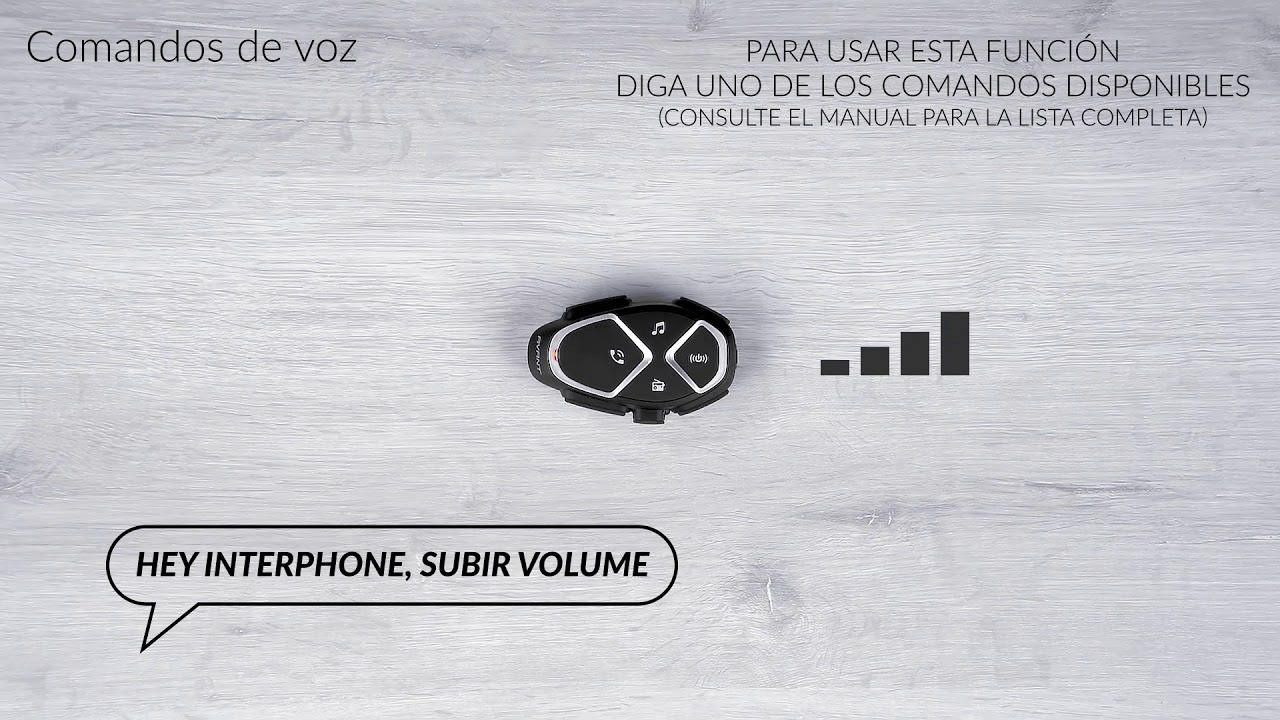 Interphone Avant, comandos de voz