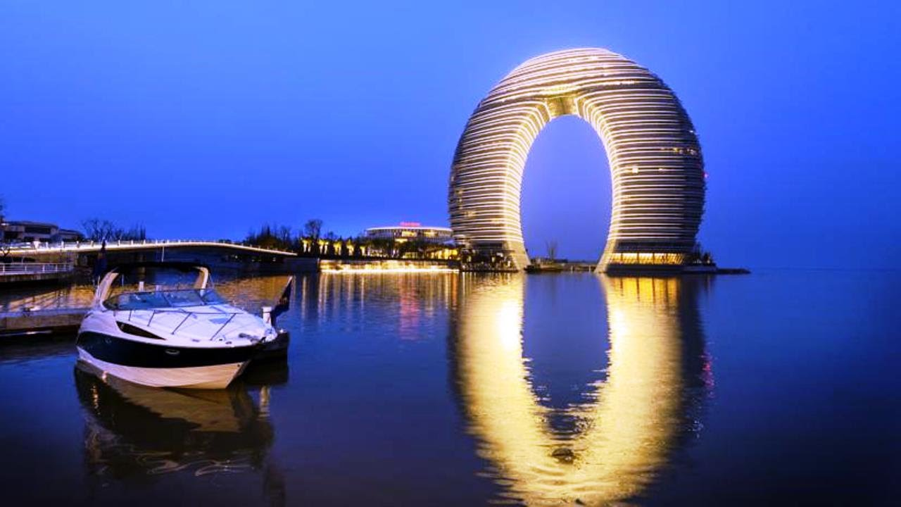 Unusual hotels of the world sheraton huzhou hot spring for Top unique hotels in the world