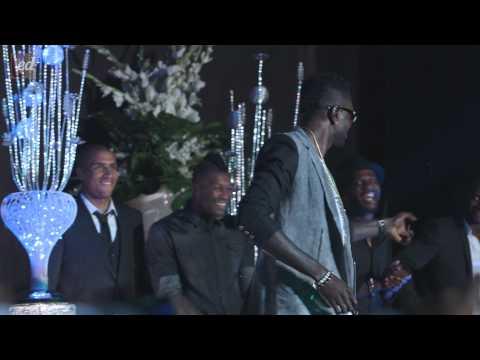 Adebayor, Cisse, Ballack and Essien dancing before #gameofhope