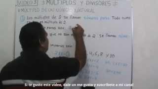 Multiplos de un numero natural (Numeros pares e impares)