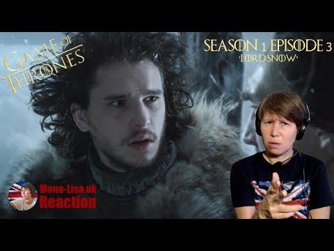 Game Of Thrones Season 1 Episode 3 Reaction 'Lord Snow' (Mona-Lisa UK)