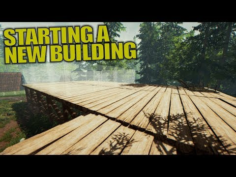 STARTING A NEW BUILDING | The Forest | Let's Play Gameplay | S13E06