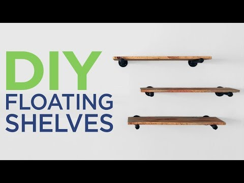 FLOATING Pipe Shelves with Pipes | 2