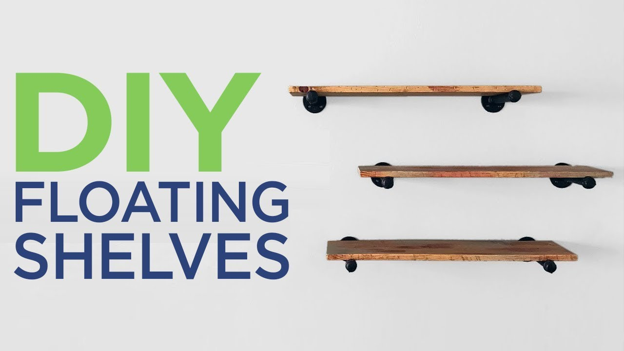 building minimalist shelves with pipes 2 youtube rh youtube com how to make rustic wood shelves how to make rustic wood shelves