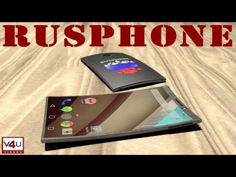 RUSPHONE From Russia, The First Smartphone With Curved Screen