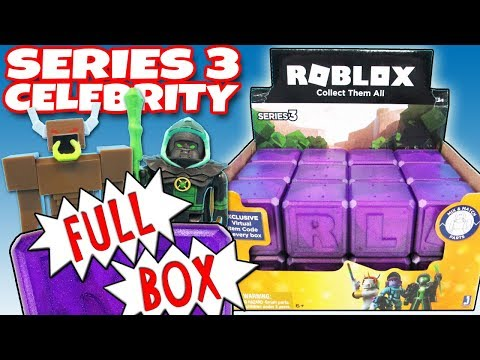 New Roblox Celebrity Series 3 Full Box Purple Mystery Boxes - roblox series 2 full blind box of 24 mystery boxes opening toy review trusty toy channel