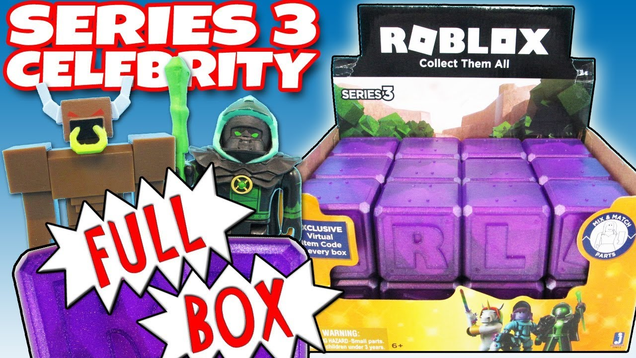 Roblox Mystery Box Series 3 - New Roblox Celebrity Series 3 Full Box Purple Mystery Boxes Opening Toy Review Trusty Toy Channel
