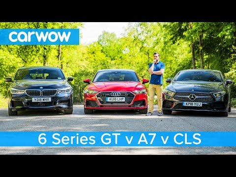 Audi A7 vs Mercedes CLS vs BMW 6GT review - which is the
