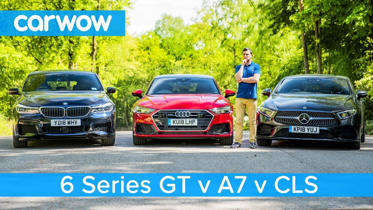 Audi A7 vs Mercedes CLS vs BMW 6GT review - which is the best?