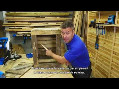 comment fabriquer une petite armoire avec des palettes