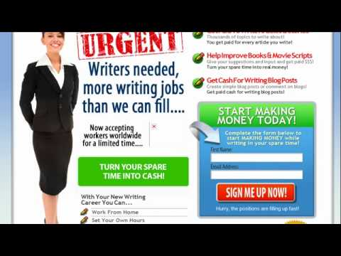 Real Writing Jobs -- Earn Extra Money Writing