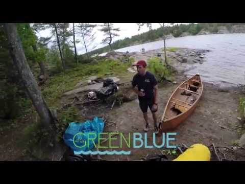 Part 1 of 2 Paddling The French River - Canoe Trip w/ Alex in HD GoPro 4 and DRONE