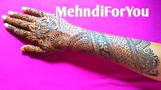 right hand mehndi design back side