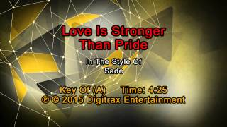Sade - Love Is Stronger Than Pride  (Backing Track)