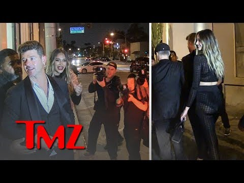 Robin Thicke and April Love Geary Have 10 Million Reasons to Celebrate