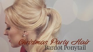 How to get a Bardot Ponytail