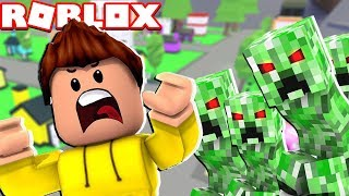 PROTECT DUE CREEPERS DO MINECRAFT NO ROBLOX!