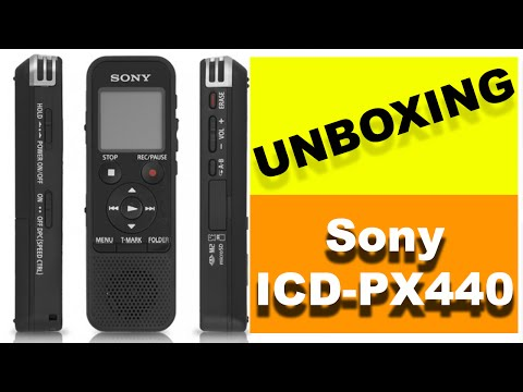 Gravador Digital Sony ICD-PX440 [UNBOXING]