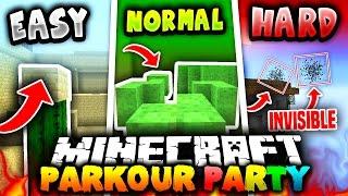 Minecraft PARKOUR PARTY!   (15 LEVELS OF FUN!) with PrestonPlayz