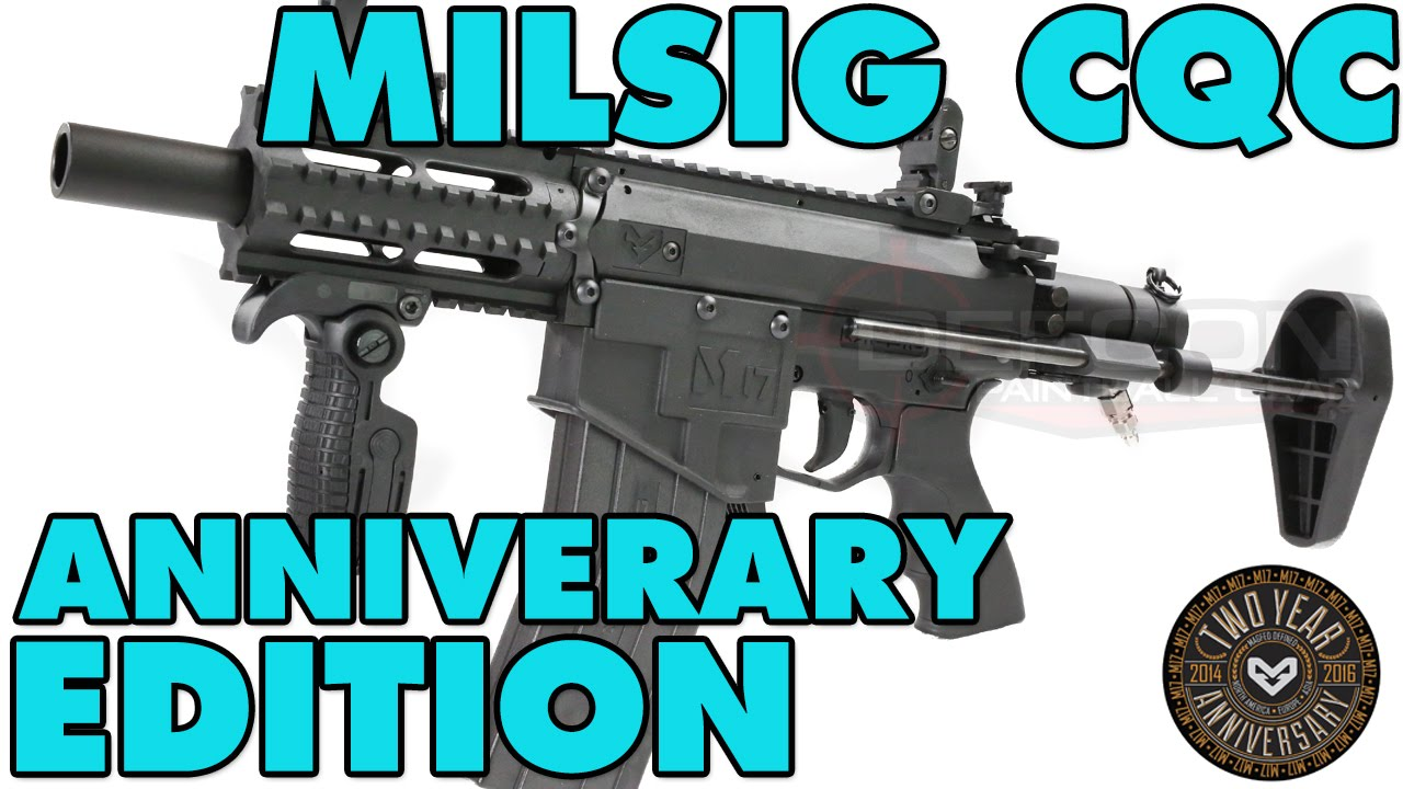 Milsig M17 Cqc Anniversary Edition Defcon Paintball Gear Youtube