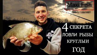 4 СЕКРЕТА успешной ловли рыбы КРУГЛЫЙ ГОД