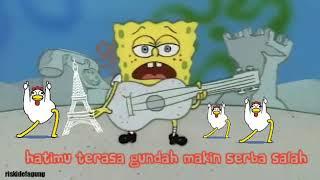 Spongebob bernyanyi menggunakan gitar