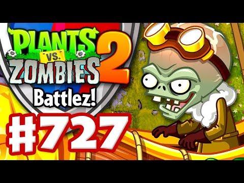 Battlez with Zombot Aerostatic Gondola! - Plants vs. Zombies 2 - Gameplay Walkthrough Part 727