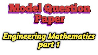 TNEB AE Model question paper with answer engineering mathematics part1