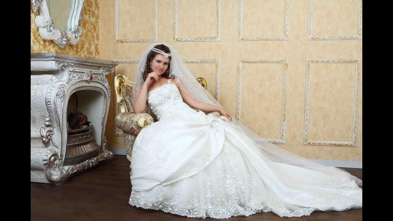 1cb7df7a9e230 اخر موضة فساتين زفاف 2018 - YouTube