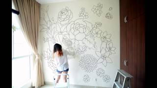 easy clay art mural tutorial for begginers