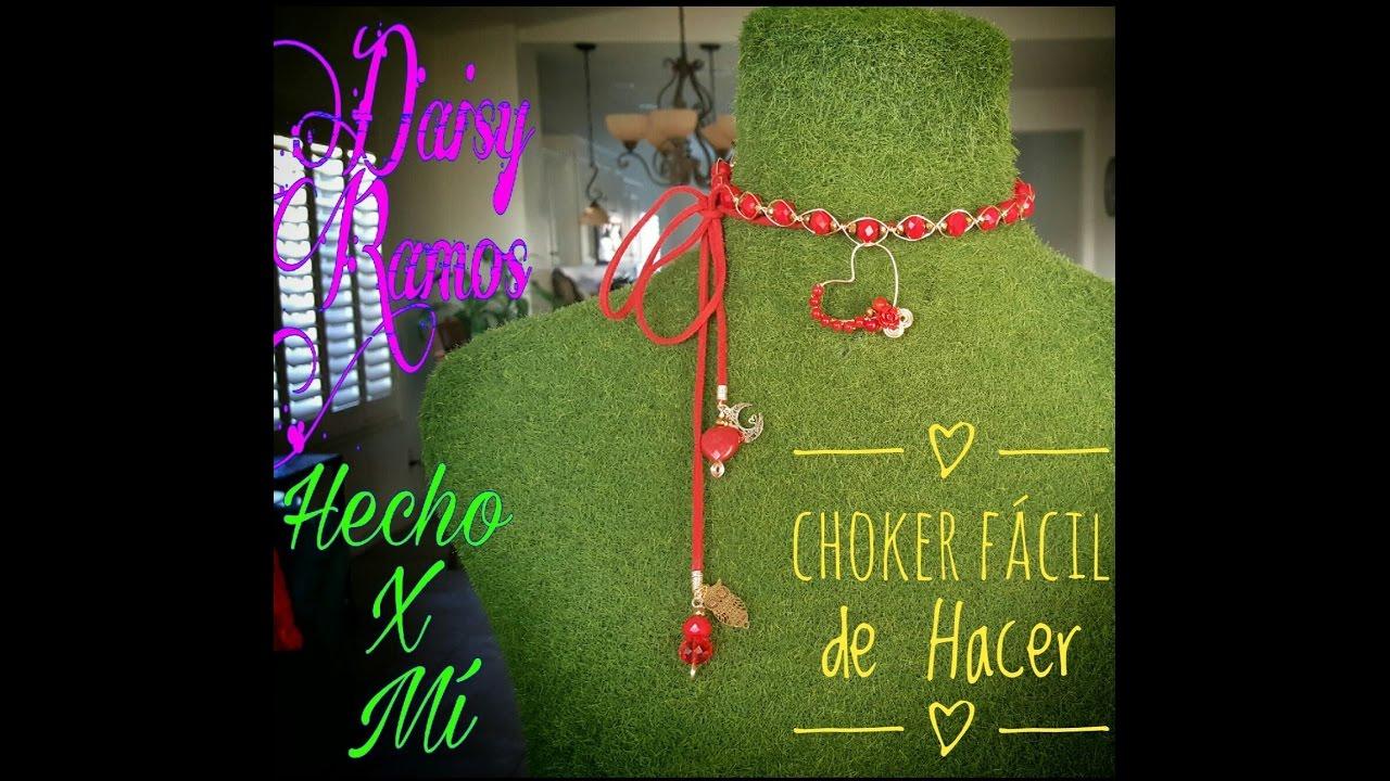 Choker Fácil de Hacer, Alambrismo, DIY - YouTube