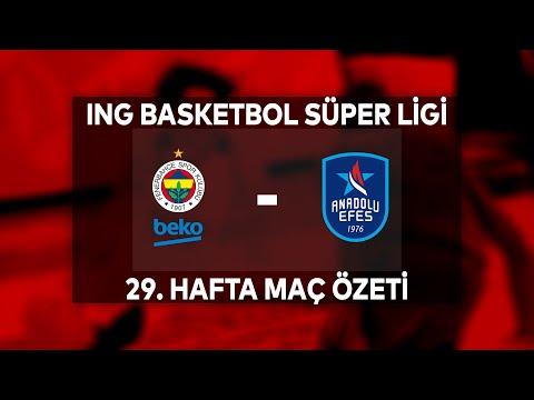 BSL 29. Hafta Erteleme Maçı Özet   Fenerbahçe Beko 84-88 Anadolu Efes